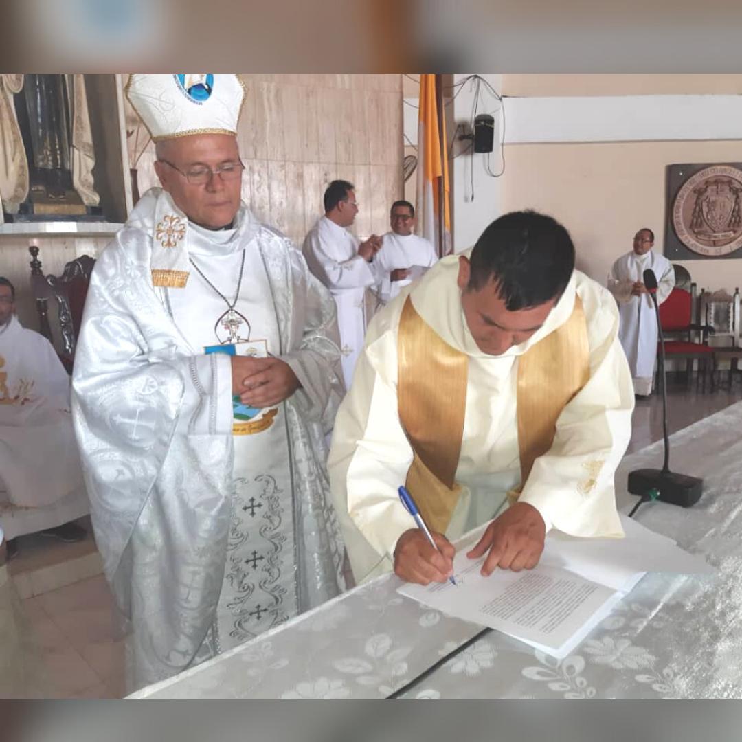 Nuevo párroco para la Catedral de la Diócesis de Guasdualito
