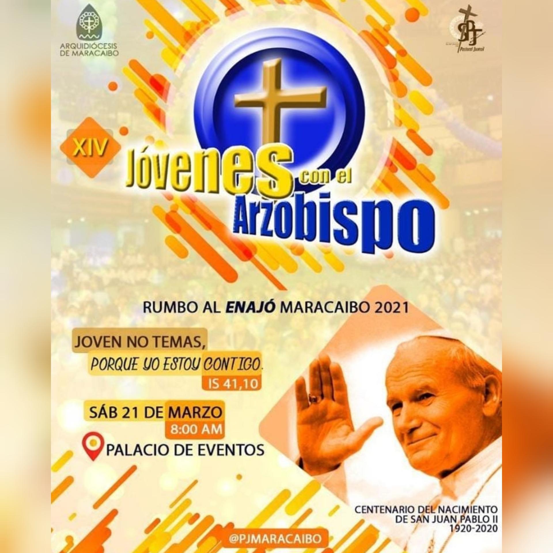 Pastoral Juvenil de la Arquidiócesis de Maracaibo celebrará el XIV Encuentro de Jóvenes con el Arzobispo