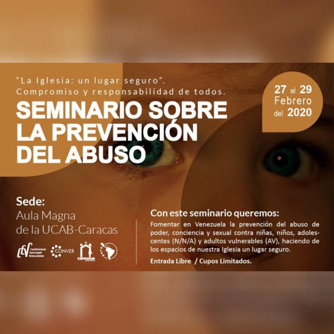 Iglesia en Venezuela efectuará Seminario de Prevención del Abuso