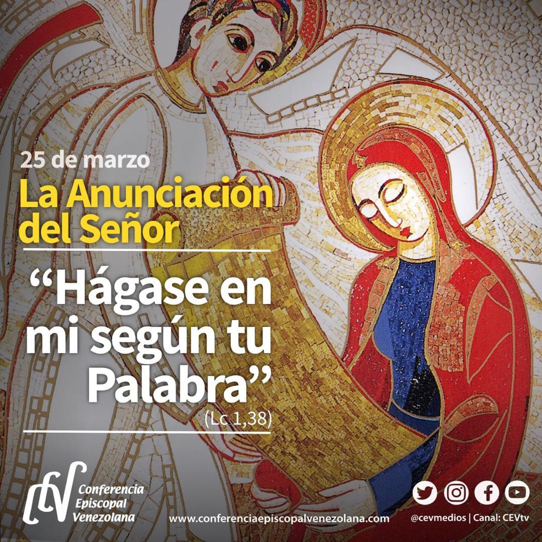 """Solemnidad de la Anunciación: """"Hágase en mí según tu palabra"""""""