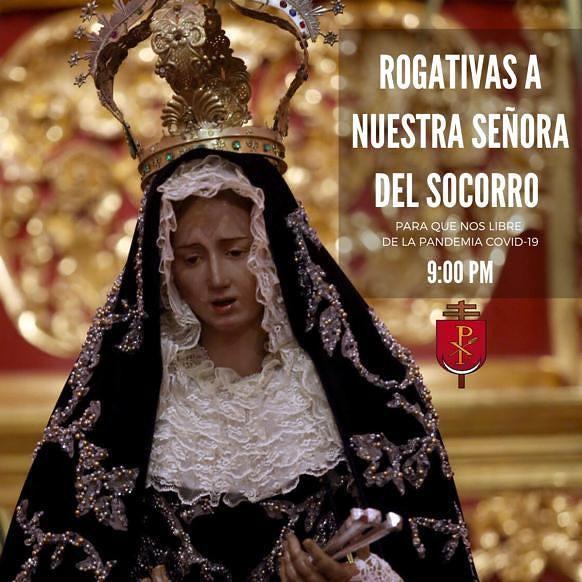 Arquidiócesis de Valencia inició Rogativas a la Virgen del Socorro por el fin de la Pandemia