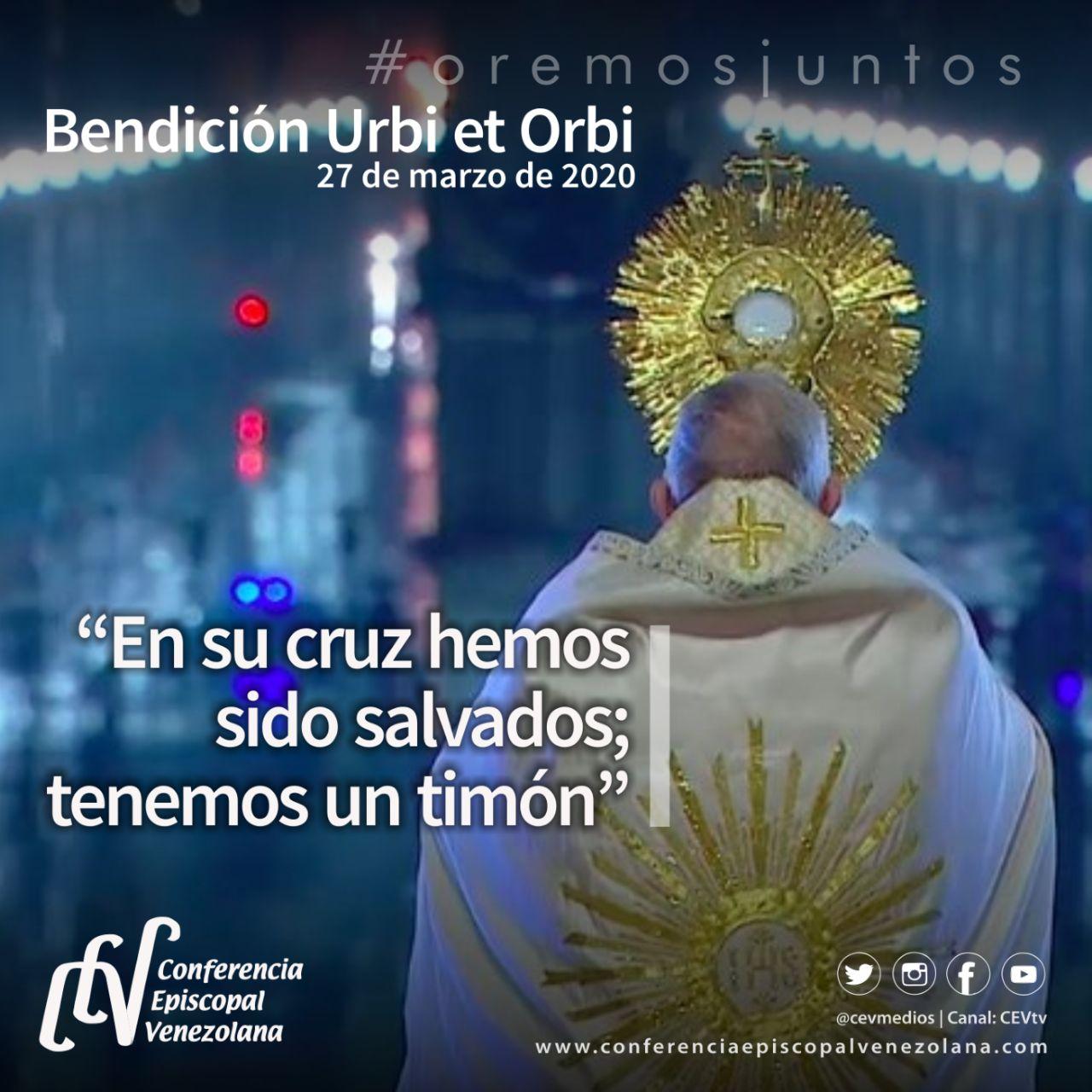"""""""Jesús calma la tempestad"""": Extraordinaria Bendición Papal Urbi et Orbi"""