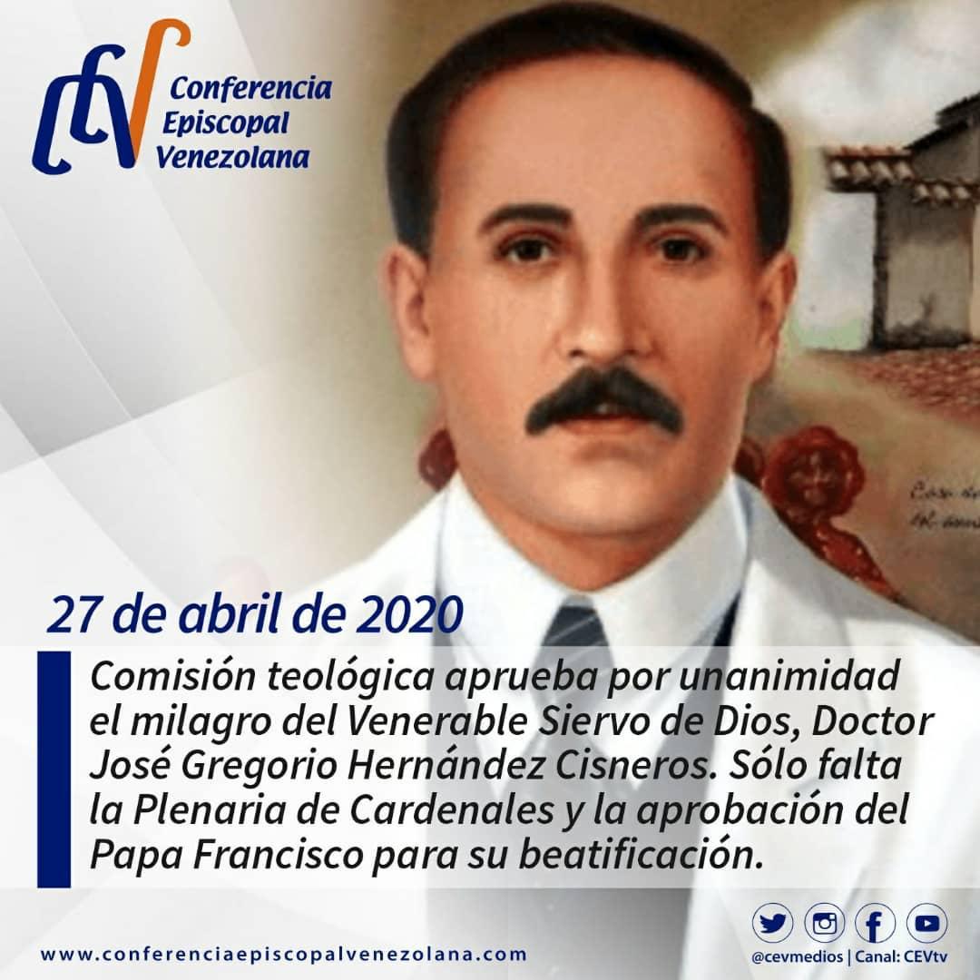 Comision Teologica Aprobo Por Unanimidad El Milagro Del Venerable Dr Jose Gregorio Hernandez Conferencia Episcopal Venezolana