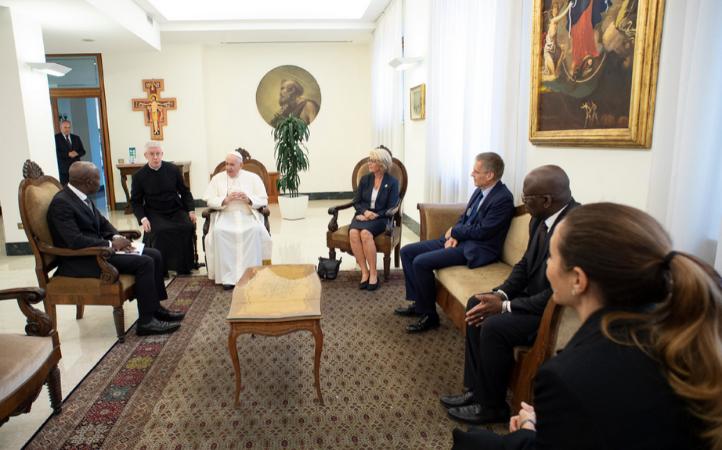 Fondo de Desarrollo Agrícola: El Papa recibe a su presidente y a una delegación