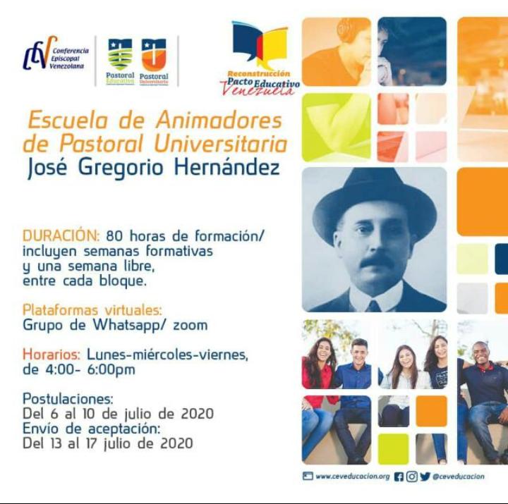 Departamento de Educación: Inició Escuela de Animadores de Pastoral Universitaria «José Gregorio Hernández»