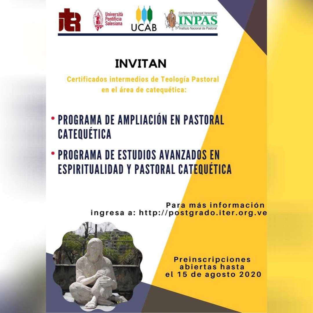 Inician preinscripciones para Certificados Intermedios en Pastoral Catequética