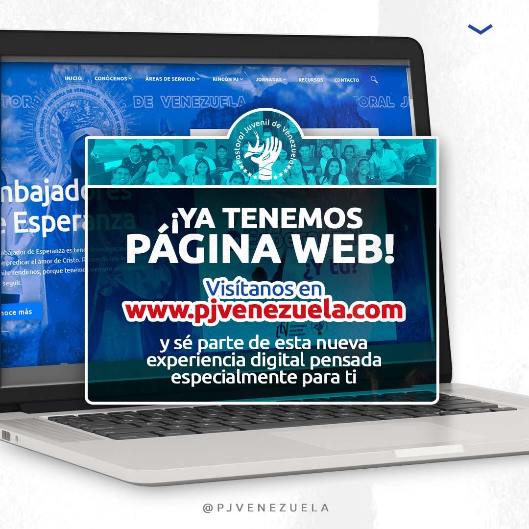 Pastoral Juvenil de Venezuela estrenó su nueva página web