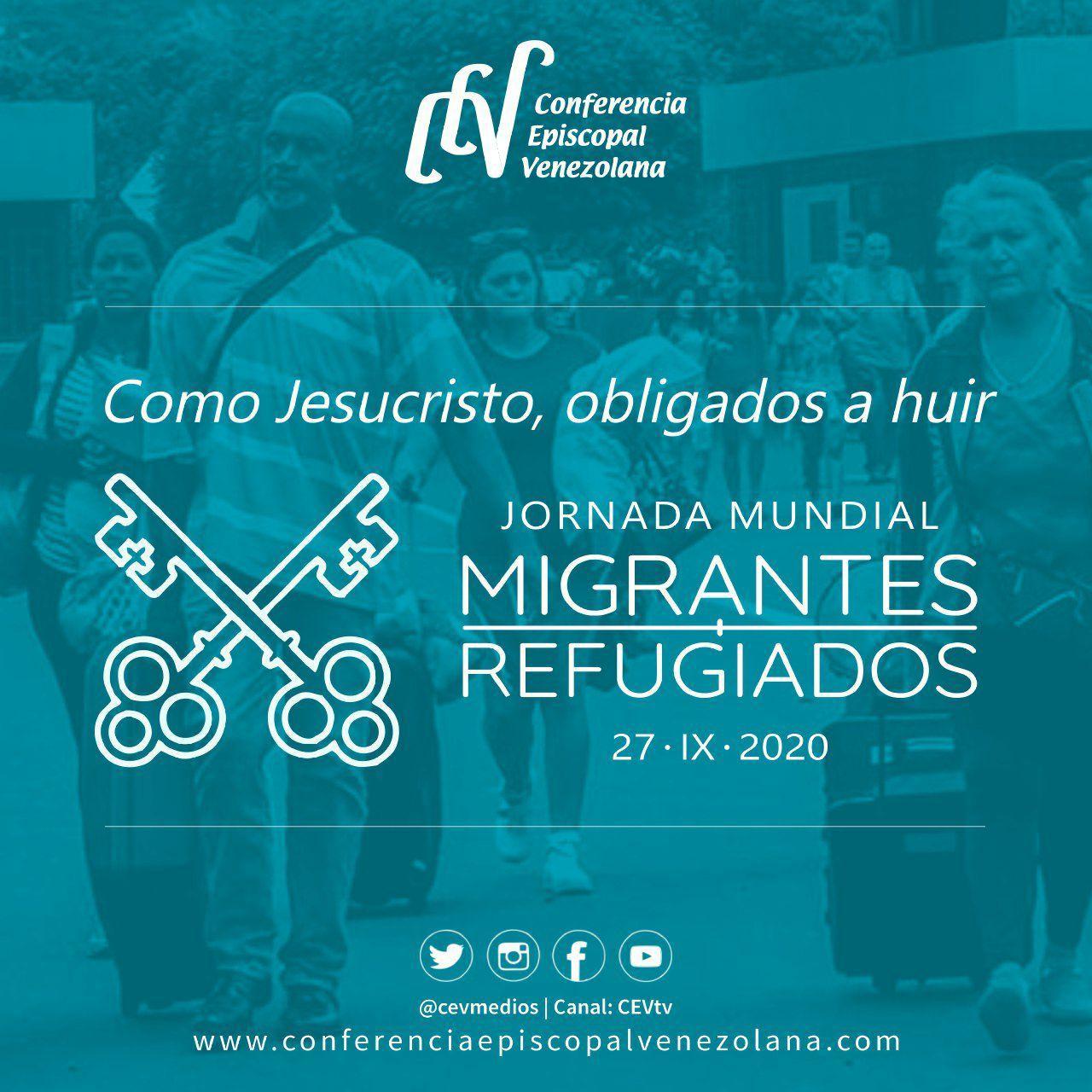 """Jornada Mundial de Migrantes y Refugiados: """"Como Jesucristo, obligados a huir"""""""