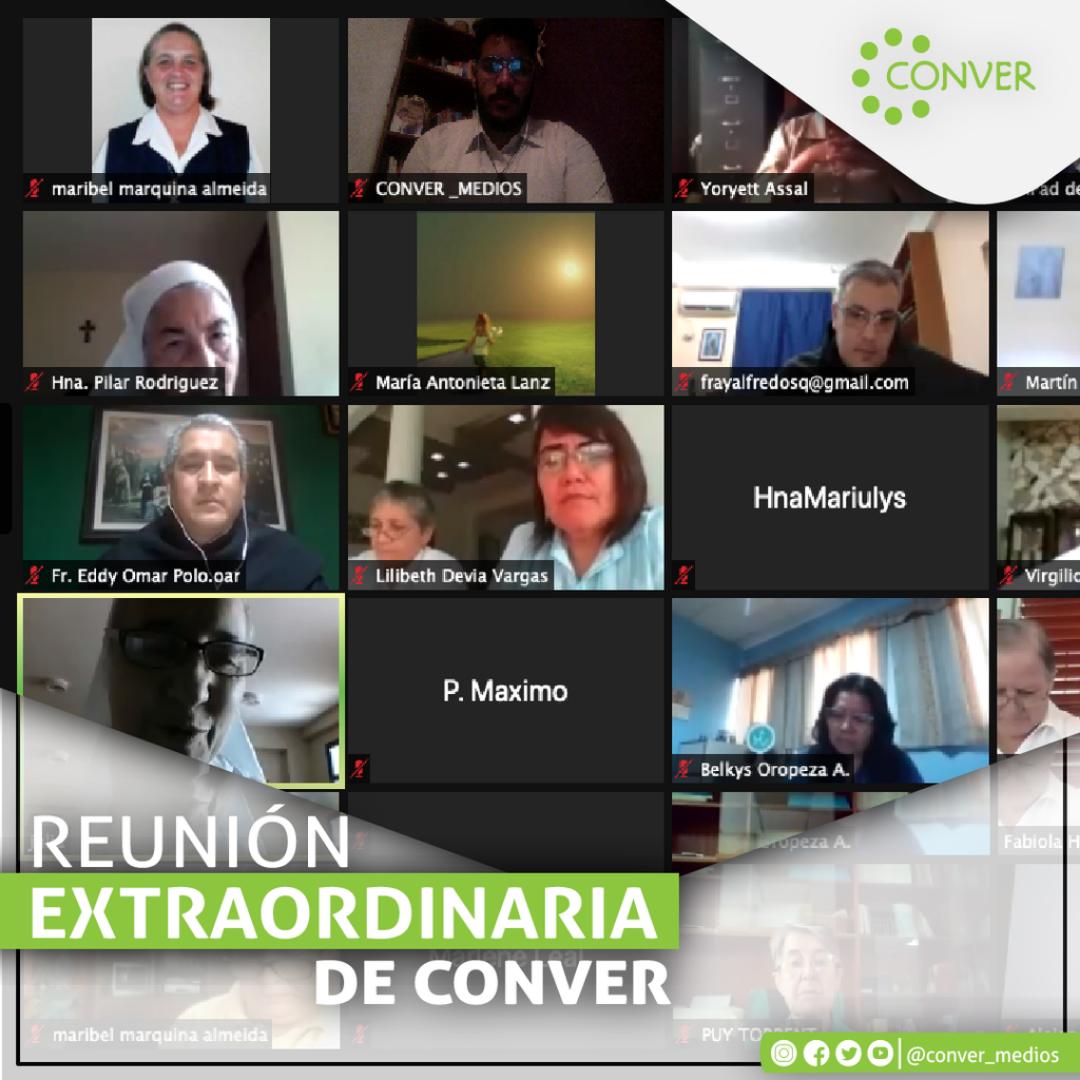 CONVER realizó reunión extraordinaria online