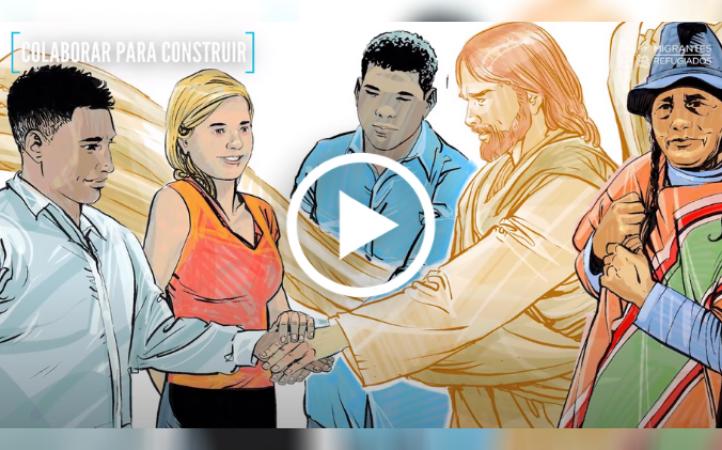 """""""Como Jesucristo, obligados a huir"""": colaborar para construir"""