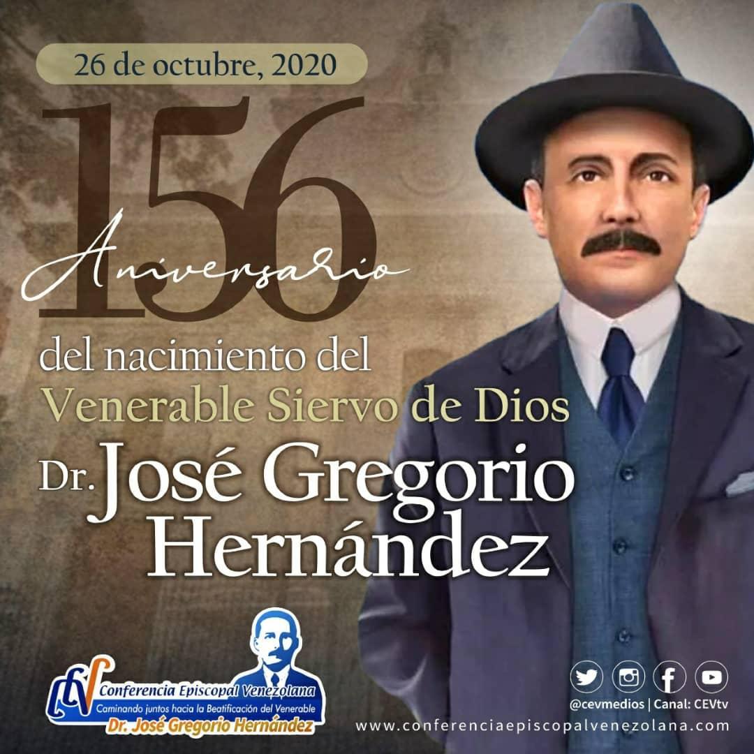 """156 años del nacimiento del Dr. José Gregorio Hernández, """"Médico de los Pobres"""""""