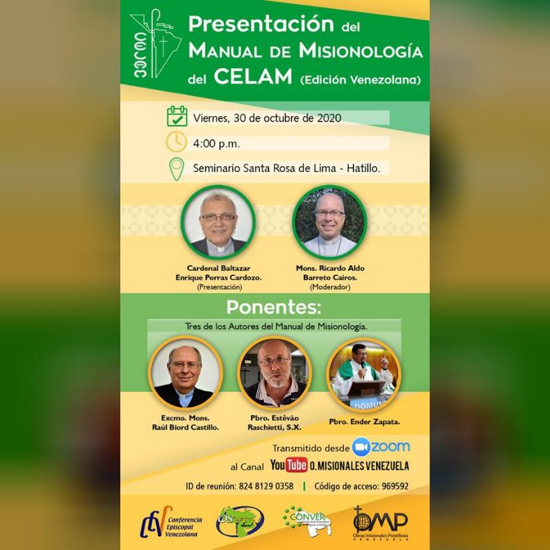Edición venezolana del Manual de Misionología del CELAM será presentada este 30 de octubre