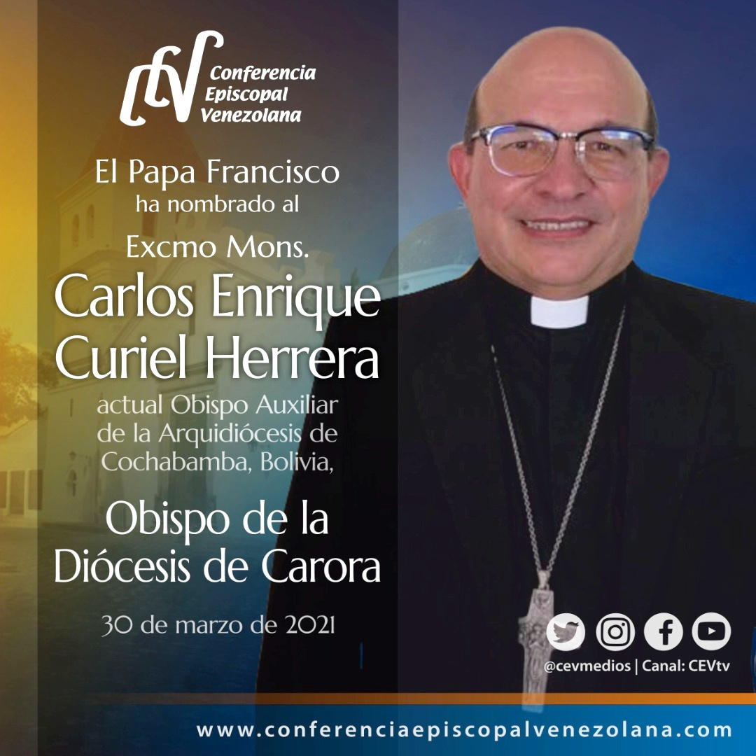 Papa Francisco nombra nuevo Obispo para la Diócesis de Carora