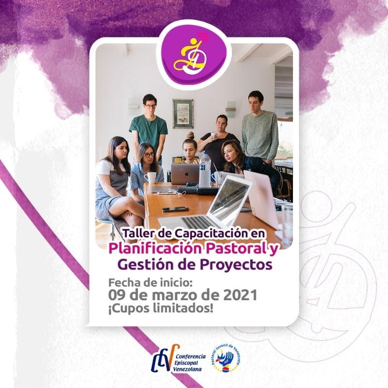 Departamento de Adolescencia y Juventud realizará Taller de Capacitación en Planificación Pastoral y Gestión de Proyectos