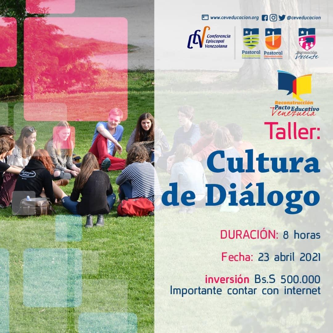 Departamento de Educación invita a taller sobre cultura del diálogo en el marco de la reconstrucción del Pacto Educativo
