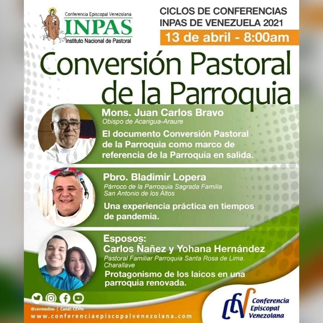 """INPAS invita la conferencia """"Conversión Pastoral de la Parroquia"""" en el marco de la II Asamblea Nacional de Pastoral"""