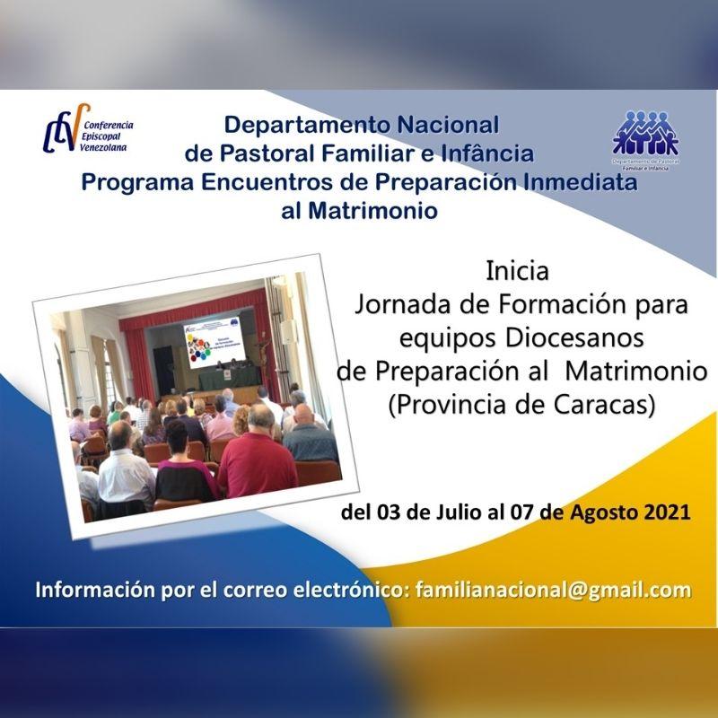 Departamento de Familia e Infancia iniciará jornada formativa para equipos diocesanos sobre preparación al Sacramento del Matrimonio