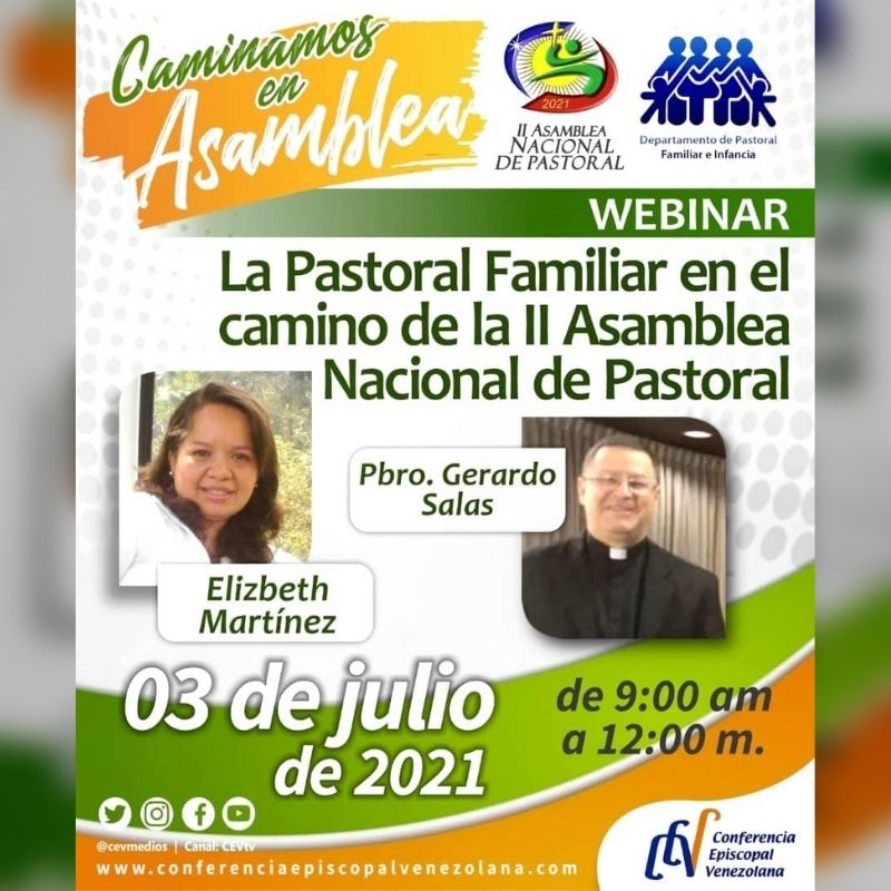 Departamento de Familia e Infancia realizará Webinar formativo sobre la II Asamblea Nacional de Pastoral