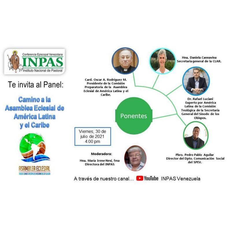 """INPAS Venezuela ofrecerá el panel virtual """"Camino a la Asamblea Eclesial de América Latina y El Caribe"""""""