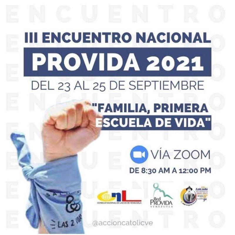 III Encuentro Nacional Provida Venezuela 2021