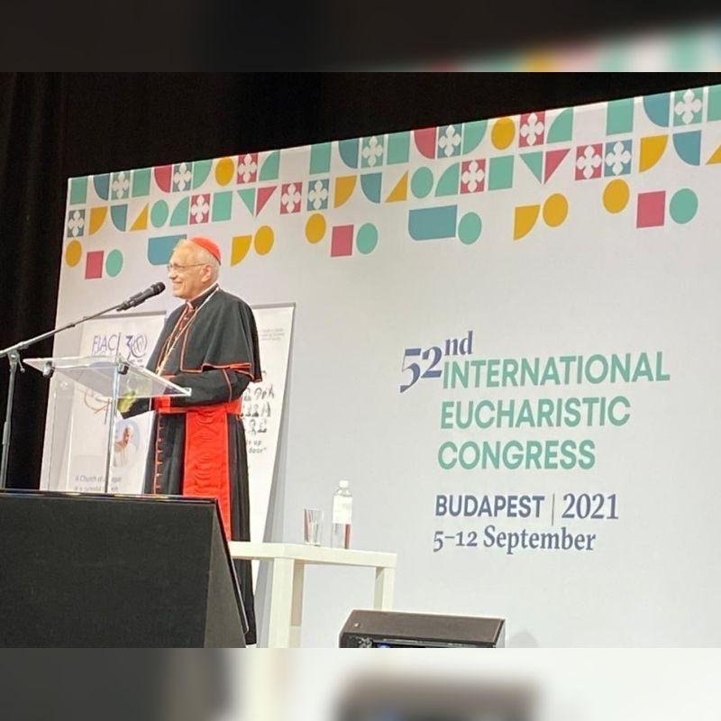 Cardenal Porras en el 52° Congreso Eucarístico Internacional: «El llamado a la santidad tiene nuevos lenguajes y nuevos rostros»