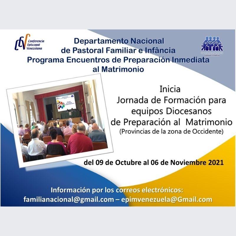 Departamento de Familia e Infancia continúa plan de formación del programa Encuentros de Preparación Inmediata al Matrimonio