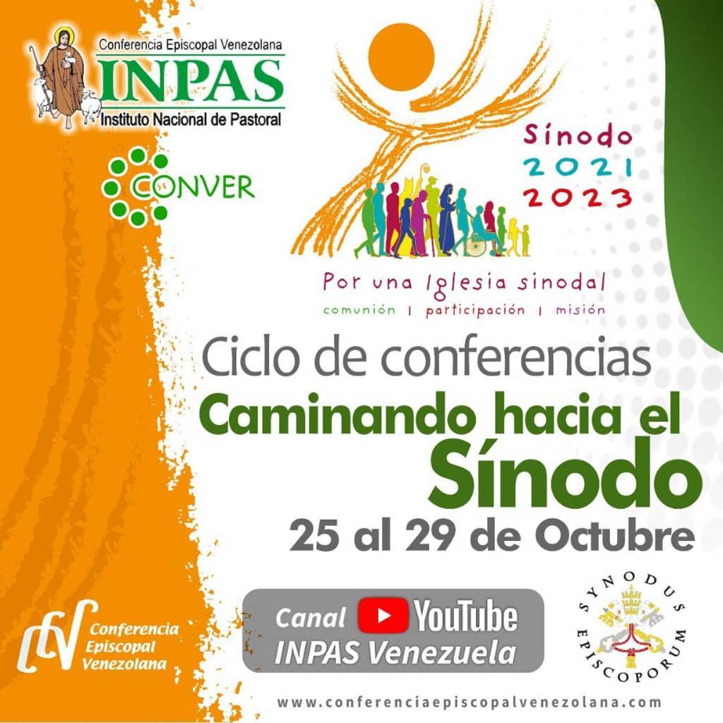 INPAS invita a participar en el ciclo de conferencias «Caminando hacia el Sínodo»